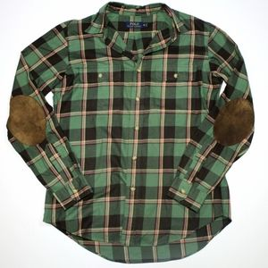 Polo By Ralph Lauren Elbow Patch Flannel